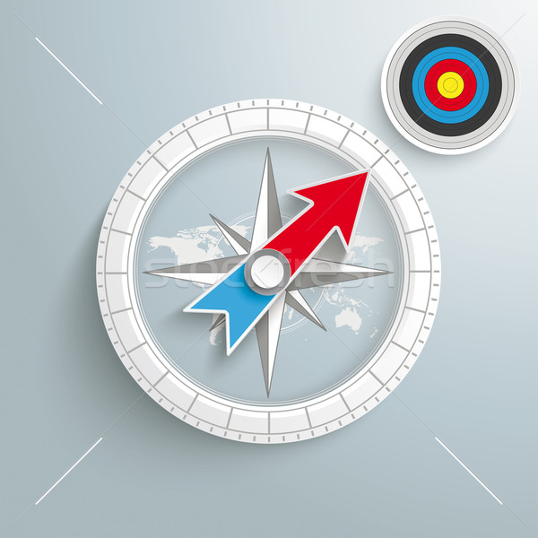 Stock photo: Compass Colored Target