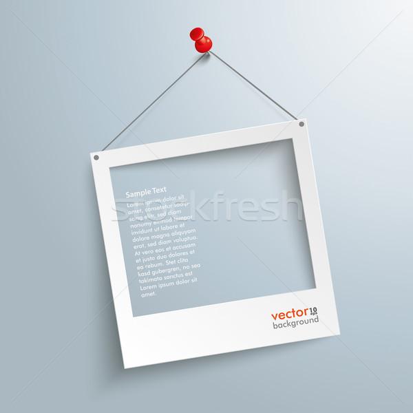 Photo Frame Thumbtack Stock photo © limbi007