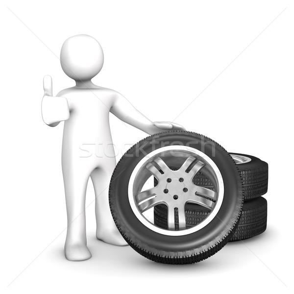 Manikin Change Of Tires Ok Stock photo © limbi007