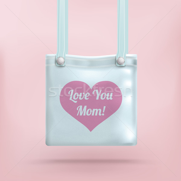 кошелька сумку розовый сердце любви мамы Сток-фото © limbi007