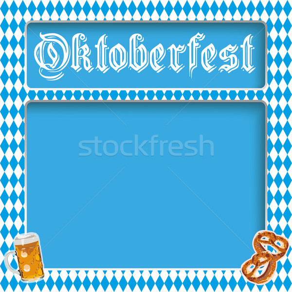 Oktoberfest Layout Bavarian Colors Stock photo © limbi007