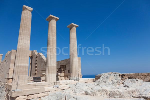 Temple Of Lindian Athena Lindos Greece Stock photo © limbi007