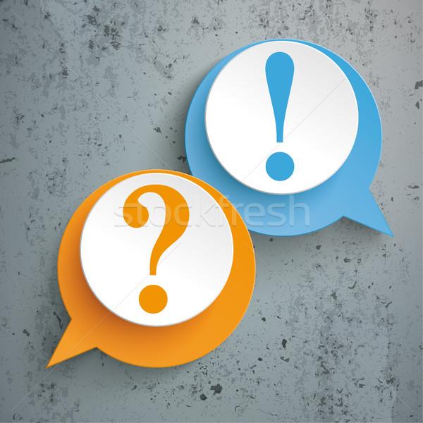 2 Speech Bubbles Question Answer  Stock photo © limbi007