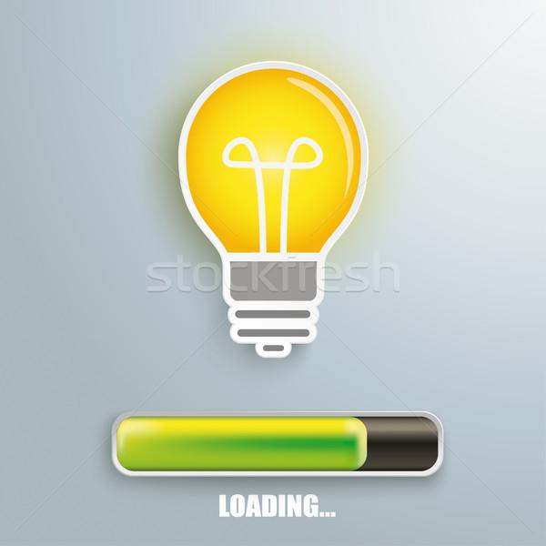 Bulb Progress Bar Loading Stock photo © limbi007