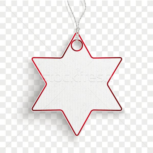Karton opknoping star prijs sticker transparant Stockfoto © limbi007
