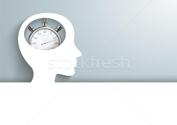 Human Head Cover Stopwatch Stock photo © limbi007