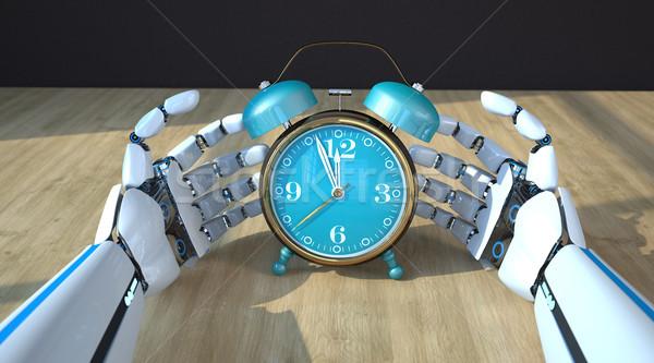 Robot Hands Alarmer Stock photo © limbi007