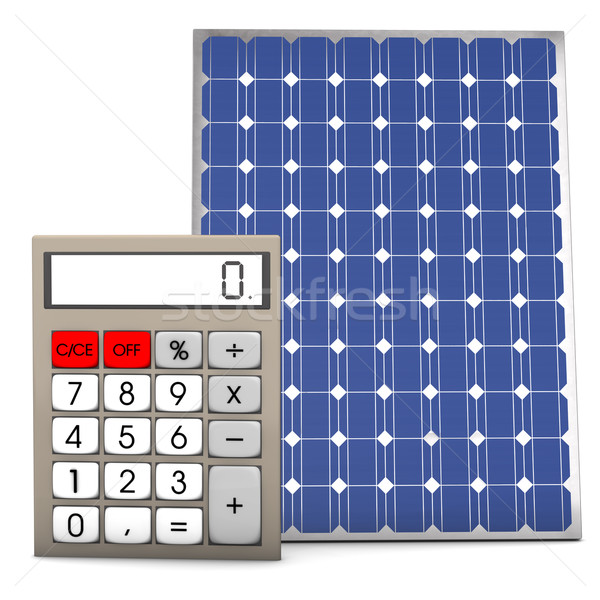 Solar Panel Calculator Stock photo © limbi007