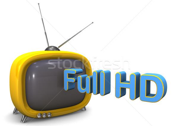 フル hd テレビ オレンジ 白 テレビ ストックフォト © limbi007