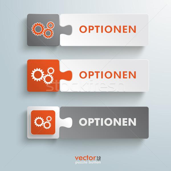 Button Puzzle Options Stock photo © limbi007
