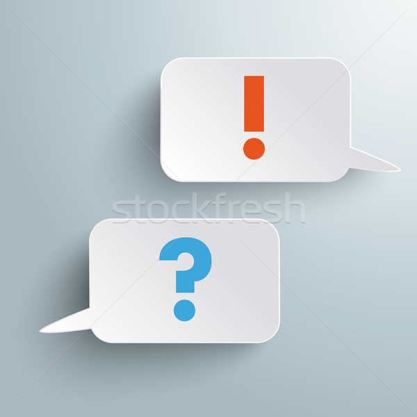 Two Rectangle Speech Bubbles Question Answer Stock photo © limbi007