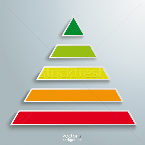 Renkli piramit dizayn gri eps Stok fotoğraf © limbi007