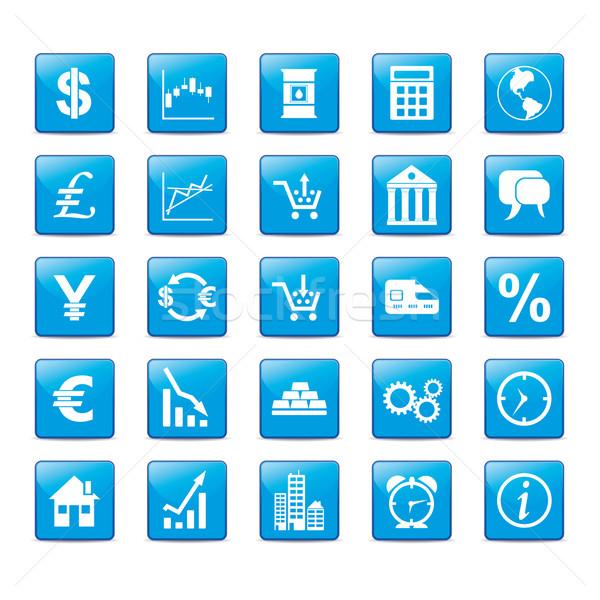 Mercados azul estilo globo Foto stock © limbi007