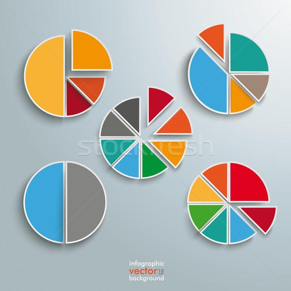 Circle Diagram Set Stock photo © limbi007