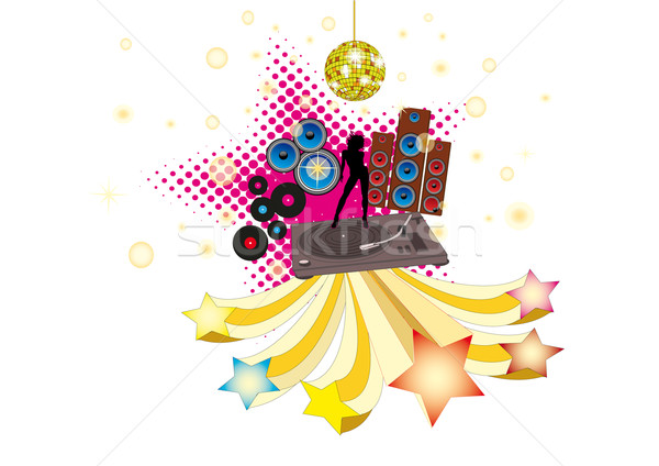 Disco Stars Stock photo © limbi007