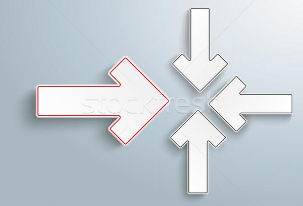 Kâğıt oklar çözüm gri eps 10 Stok fotoğraf © limbi007