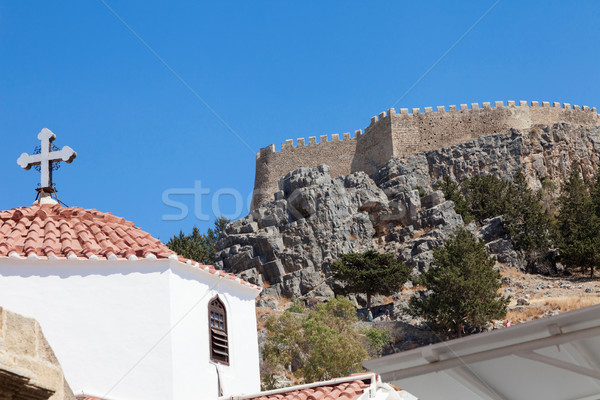 Stock photo: Lindos Church Acropolis