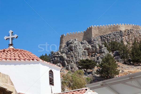 Lindos Church Acropolis  Stock photo © limbi007