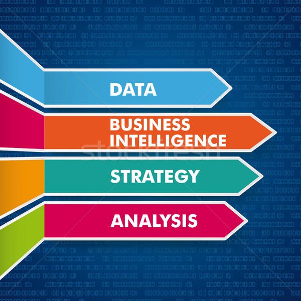 Arrows Business Intelligence Digital Stock photo © limbi007