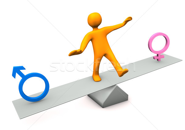 Balance Male Female Stock photo © limbi007