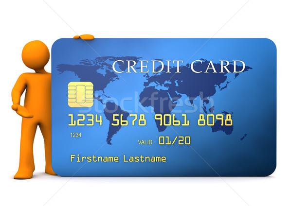 Manikin Credit Card Stock photo © limbi007