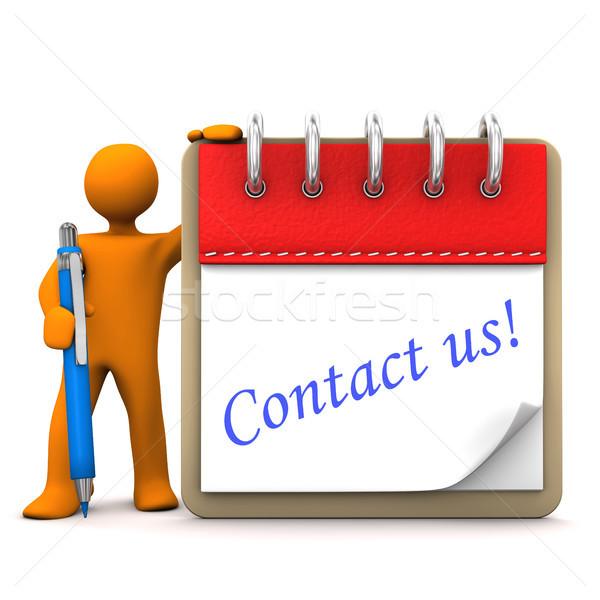 Manikin Notepad Contact Us Stock photo © limbi007