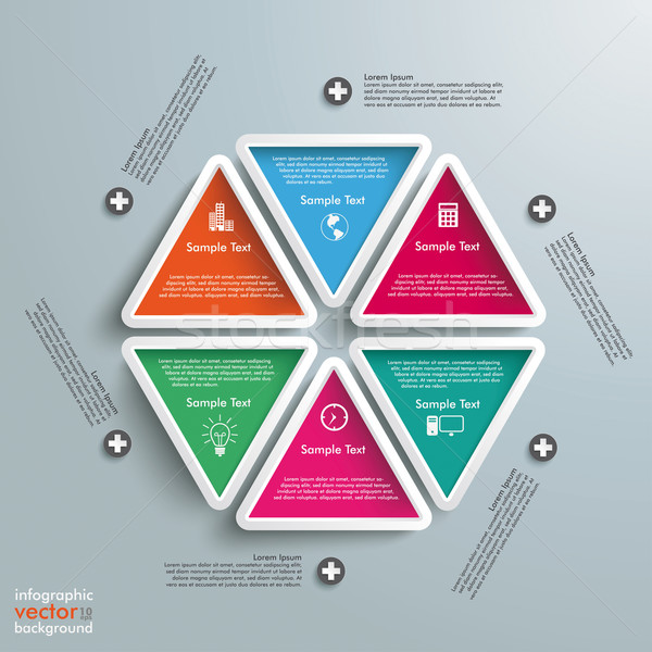 Three Colored Drops Batched Circles Infographic PiAd Stock photo © limbi007