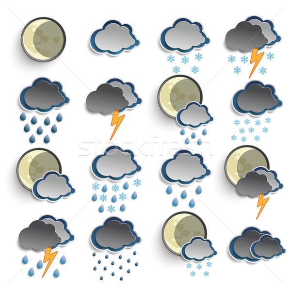 Night Weather Icons Stock photo © limbi007