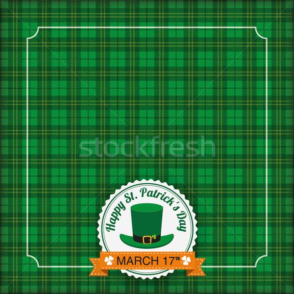 St. Patricks Day Vintage Tartan Cover Stock photo © limbi007