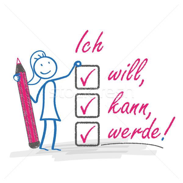 Motivierung Bleistift Text kann eps Stock foto © limbi007