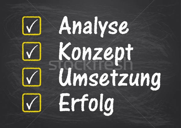 Blackboard Checklist Analyse Erfolg Stock photo © limbi007