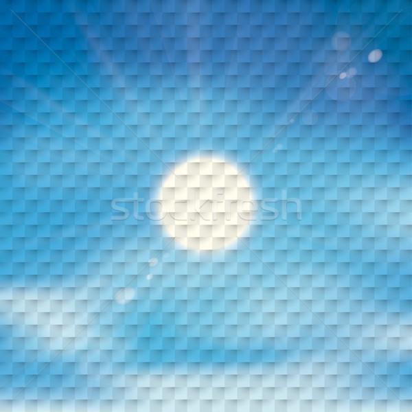Ciel bleu soleil à carreaux eps 10 vecteur Photo stock © limbi007