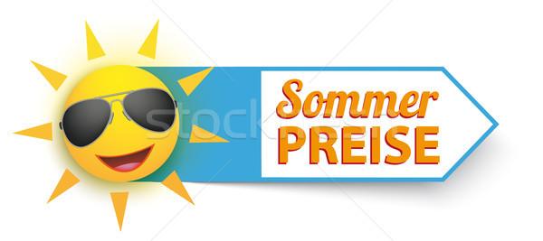 Funny Sun Sunglasses Sommer Preise Stock photo © limbi007