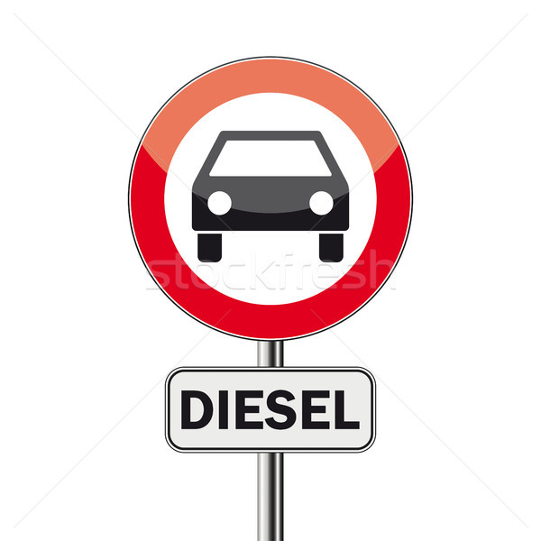 Signe pas diesel voitures eps 10 Photo stock © limbi007