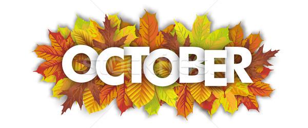 Autumn Foliage Fall Header October Stock photo © limbi007
