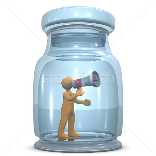 Stil oranje groot glas business Stockfoto © limbi007