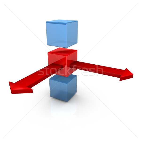 Three Cubes Two Arrows Stock photo © limbi007