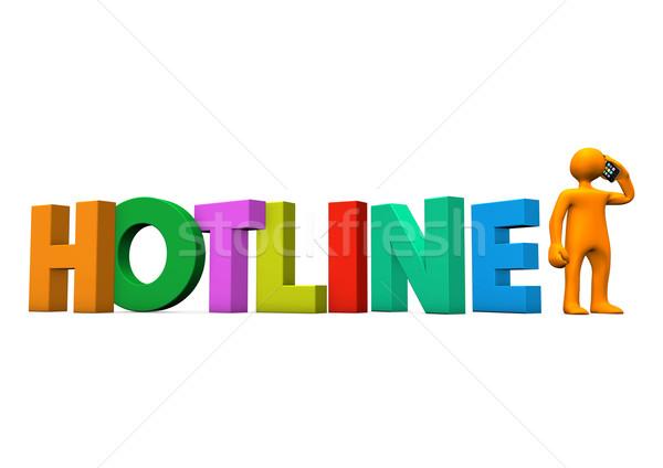 Manikin Smartphone Hotline Stock photo © limbi007