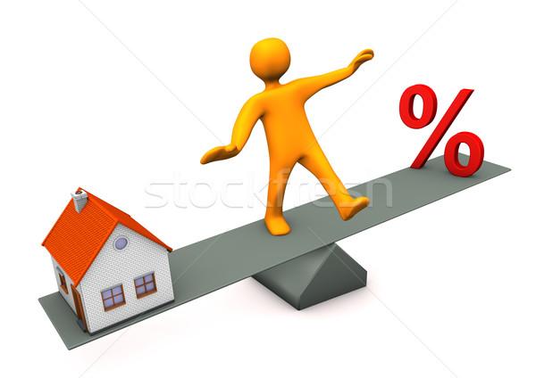 Manikin Balance Discount House Stock photo © limbi007