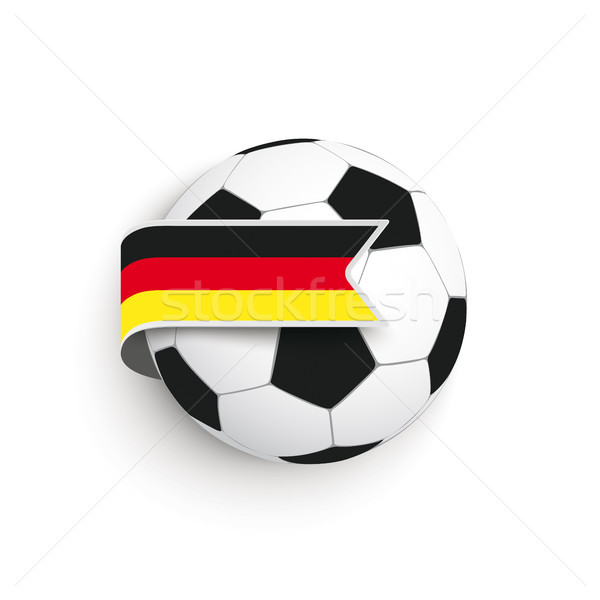 Football German Flag Stock photo © limbi007