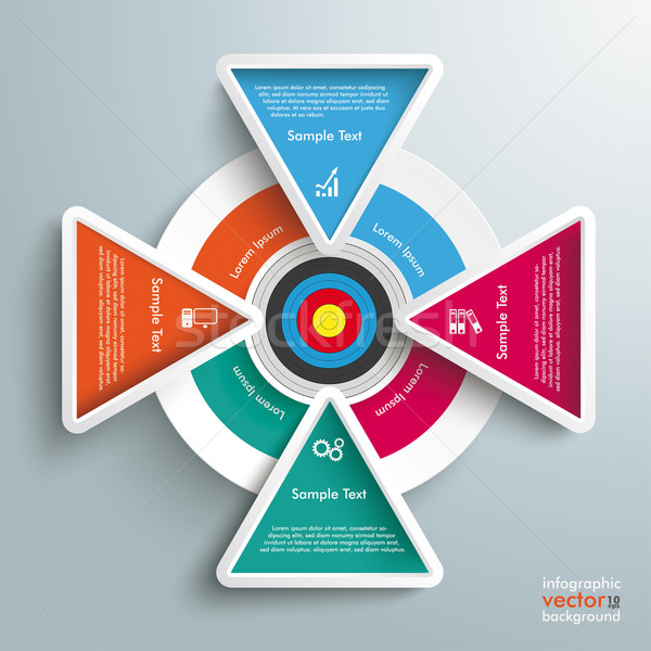 Target Colored Infographic 4 Triangles Stock photo © limbi007