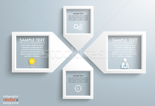 Paper Arrow Frames Solution Businessman Infographic Stock photo © limbi007