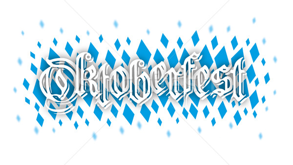 Oktoberfest Blauw confetti kleuren structuur tekst Stockfoto © limbi007