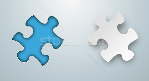 Stock photo: Paper Puzzle Hole Header