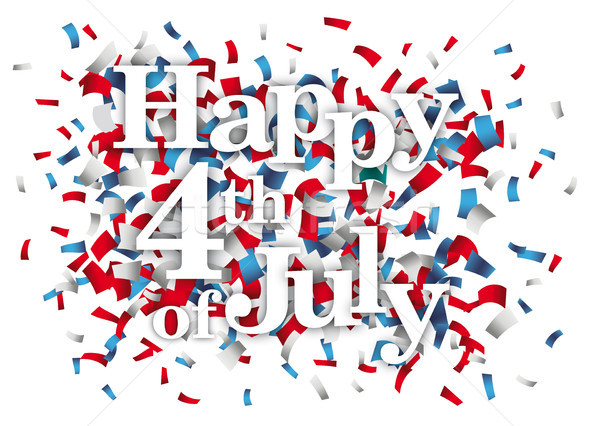 Happy 4th Of July Confetti Stock photo © limbi007