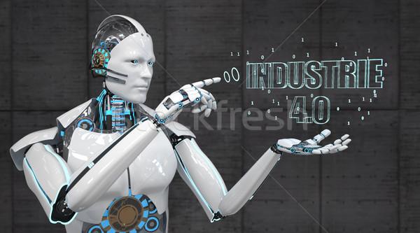 White Robot Industrie 4.0 Stock photo © limbi007