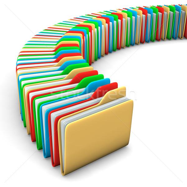 Folders Stock photo © limbi007