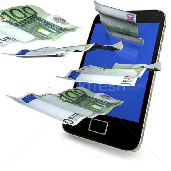 Dinero vuelo 100 euros notas Foto stock © limbi007