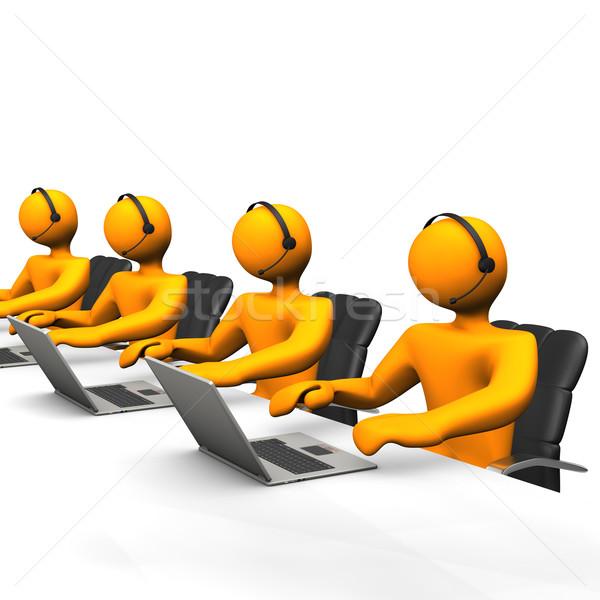 Apoiar laranja internet homem Foto stock © limbi007