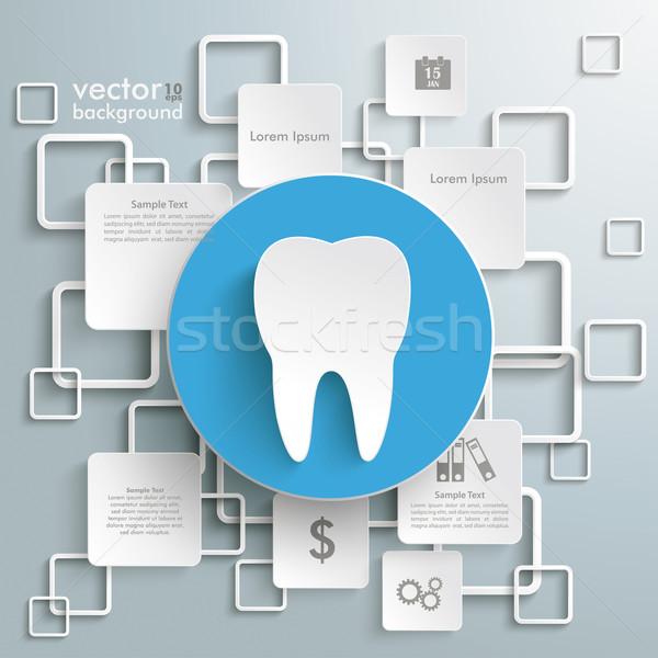 синий круга зубов белый серый Сток-фото © limbi007